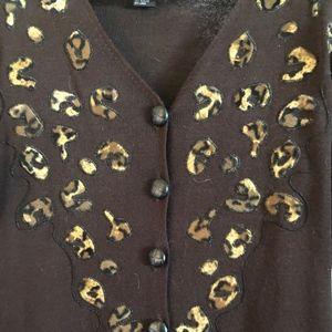 Carole Little Maxi Dress, Like New, Animal Print